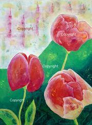 Bild Blumenmotiv Acrylbild