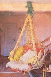 hochwertiger Sisal Hängesessel inkl Deckenaufhängung