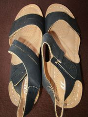 Gr 40 Plateausandalen Wedge Farbe