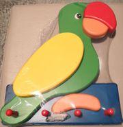 Kindergarderobe Papagei Vogel - Hakenleiste - Kinderzimmer -
