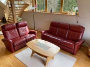 Echt-Ledercouch 3 Sitzer und 2