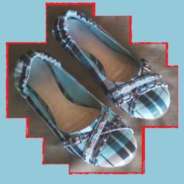 Damenschuh Ballerina Gr 44 türkis