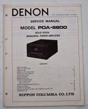 Denon POA-6600 Mono Endstufe Schaltplan