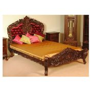 Rokoko barock Bett mit Polster