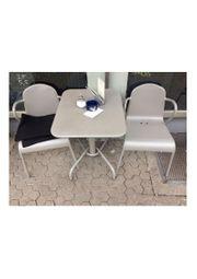 Gastronomie Außenbestuhlung Sitzgruppe grau Alu