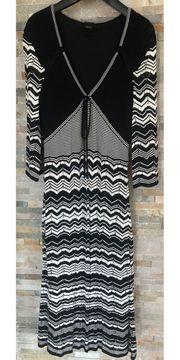 Esprit Strickkleid schwarz weiß Gr