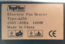 Heizgerät Electric Fan Heater 1800Watt: Kleinanzeigen aus Deggendorf - Rubrik Öfen, Heizung, Klimageräte