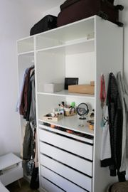 White IKEA Closet