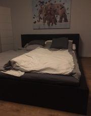 Malm Bett schwarzbraun 160x200 mit