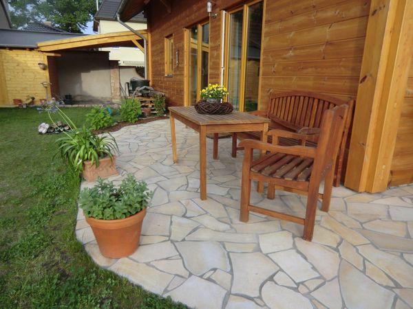 Natursteine Polygonalplatten Terrassenplatten Einfahrt Fassade