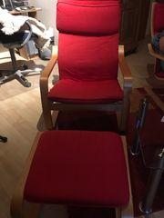 Schwingsessel Ikea rot 2 stück