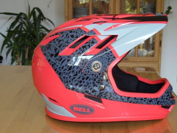 Fullface Helm Bell rot grau