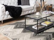 Teppich Leder grau 160 x