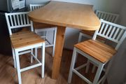Gebr Thecke Tisch 4 Barhocker