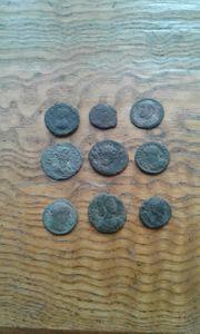 Römische Münzen 9 stück aus