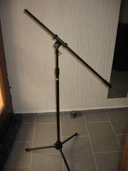 Mikrofonständer schwarz