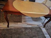 Großer Holz Esstisch mit Seiten
