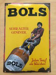 BOLS Werbeschild Emaile Werbekunst Werbeschild