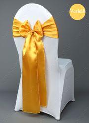 goldene Satin Stuhlschleifen mieten Stuhlbänder