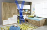 Jugendzimmer Bett Schrank 3 Teilig