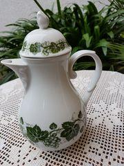 Nostalgische kleinere Kaffee Teekanne von