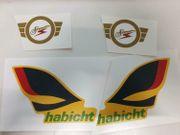Simson Habicht Detail Logo Abziehbild