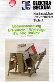 Verkaufe Brennholz-Wippkreissäge