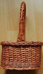 Flaschenträger - Weide geflochten braun - dekorative