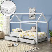 Kinderbett B90 200cm lackiert Matratze