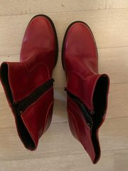 Stiefelette rot sehr bequem