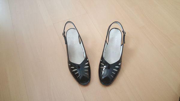 Sandalette schwarz Sandale Halbschuh