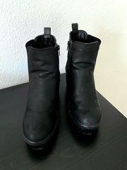 Stiefeletten Damen schwarz Gr 39