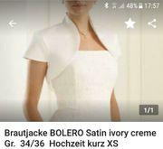 Braut Bolero Weste - Ivory