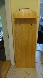 Garderobenpaneel Holz massiv