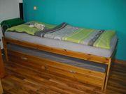 Funktionsbett Massivholz mit 2 Schlafgelegenheit