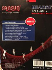 Headset SANSUN SN-505M V