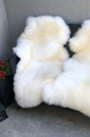 Natürliche weiße Schaffelle - 100 Natur