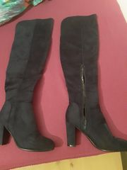 Dunkelblaue Overknee Stiefel Größe 40