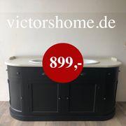 Waschtisch Waschkommode schwarz French style