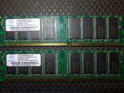 Nanya 2x 512 MB PC3200