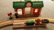 Sprechender Bahnhof für Brio-Eisenbahn Holz