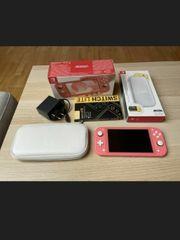 Nintendo switch lite pink