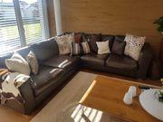 Wohnzimmer Leder Couch Tisch