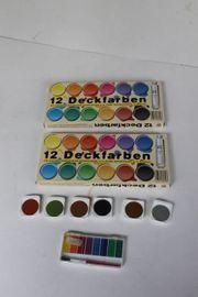 2x Wasserfarben Malkasten malen spielen