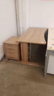 Schreibtisch mit Rollcontainer 160 x