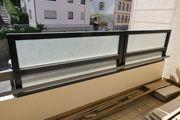 BALKON - Sichtschutzwand Glas - NEUwertig
