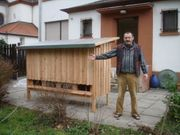 Bienenfreistand Lärchenholz
