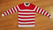 TOMMY HILFIGER Strick-Pullover - M - rot