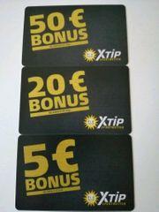 Xtip Bonus Guthaben 75EUR