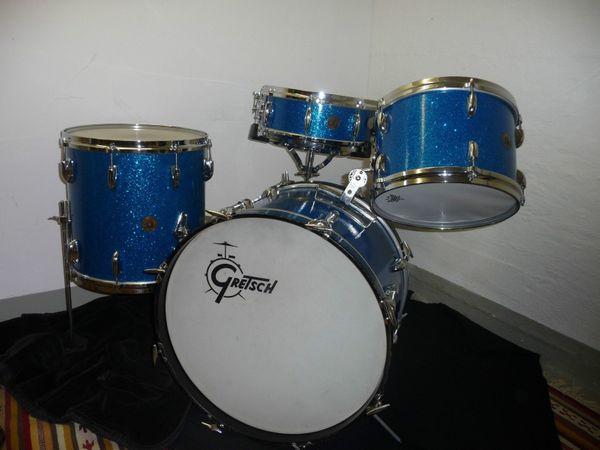 Gretsch vintage drums blue sparkle